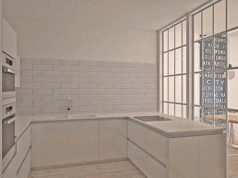 Da Vinci residential: Кухни в . Автор – SHKAF interior architects
