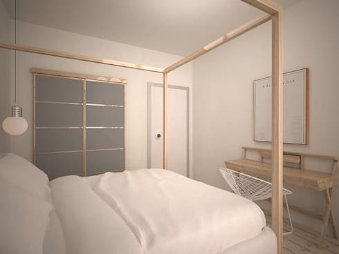 Da Vinci residential: Спальни в . Автор – SHKAF interior architects
