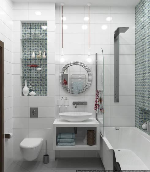 Baños de estilo escandinavo por Olesya Parkhomenko