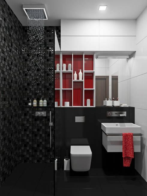 Квартира 110 кв.м г. Ульяновск: Ванные комнаты в . Автор – Olesya Parkhomenko