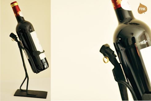 Wine Bottle Man : asian Dining room by The House of Folklore