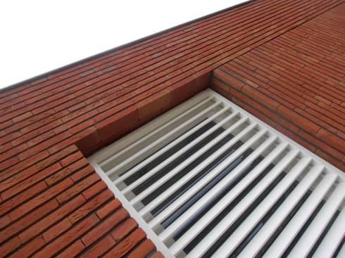 metselwerkdetail: moderne Huizen door Joris Verhoeven Architectuur