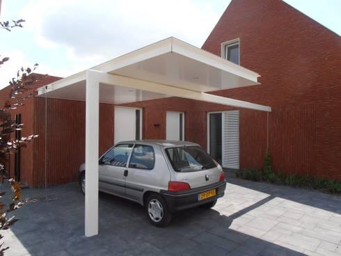 carport: moderne Huizen door Joris Verhoeven Architectuur