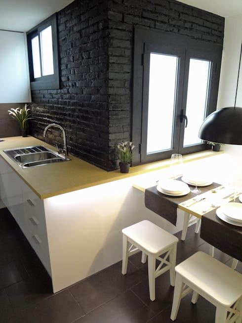 Cocina office: Cocinas de estilo moderno de davidMUSER building & design
