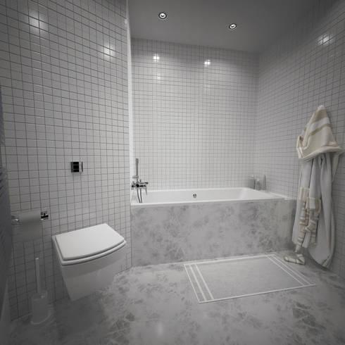 Хрущевка: Ванные комнаты в . Автор – Максим Любецкий