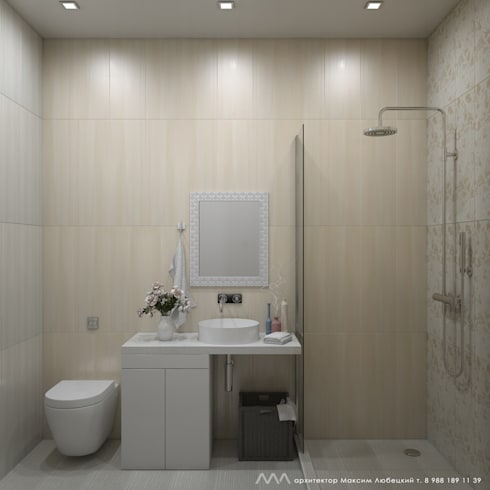 квартира на Светлане: Ванные комнаты в . Автор – Максим Любецкий