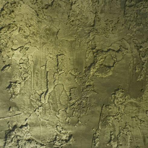 Scrusted green:  Muren & vloeren door Dofine wall   floor creations
