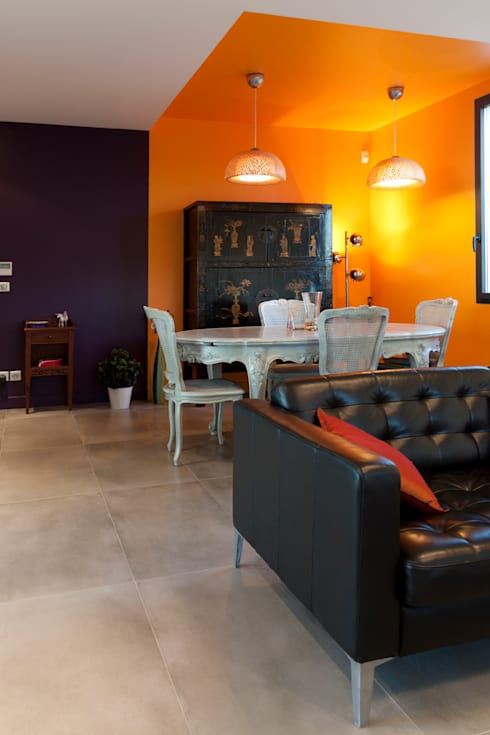 Vue de la salle à manger: Maisons de style  par Kaboom Architecture