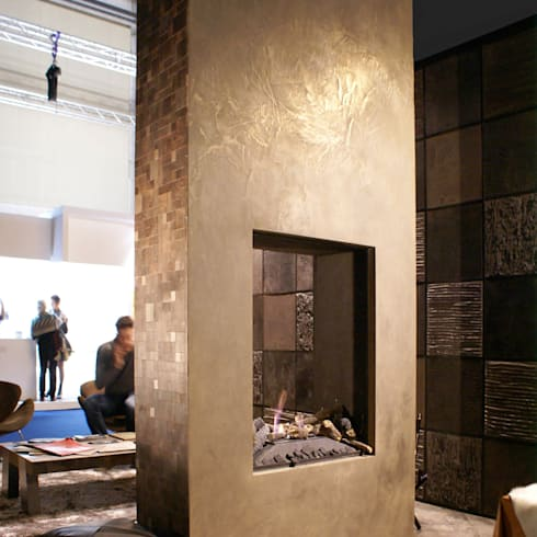 Cement design metal:  Muren & vloeren door Dofine wall | floor creations