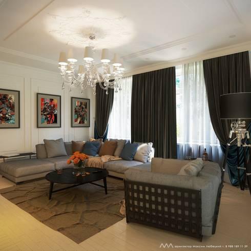 Интерьер дома: Гостиная в . Автор – Максим Любецкий
