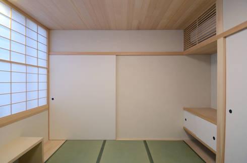 法衣室: 中川龍吾建築設計事務所が手掛けた和室です。