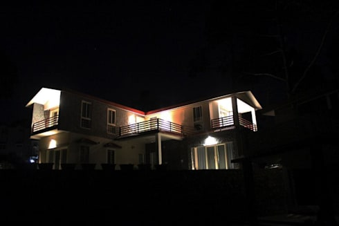 night view: modern Houses by mold design studio