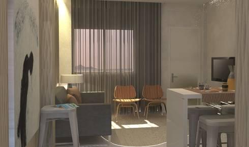 Beach House: Salas de estar ecléticas por Santiago | Interior Design Studio