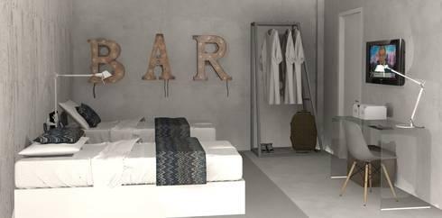 Beach House - Guest Room: Quartos ecléticos por Santiago | Interior Design Studio
