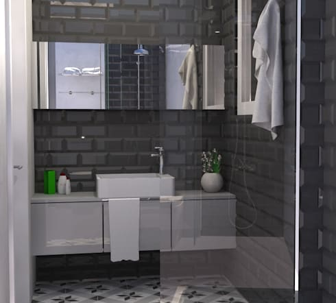 Beach House - Bathroom: Casas de banho ecléticas por Santiago | Interior Design Studio