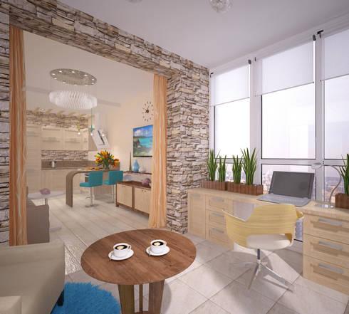 Кухня-гостиная: Tерраса в . Автор – Студия дизайна Виктории Силаевой