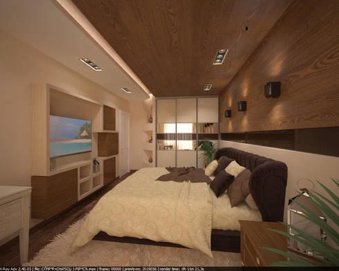 Квартира 160 кв.м.  в ЖК<q>Эдем</q>  Новосибирск: Спальни в . Автор – Студия дизайна Виктории Силаевой