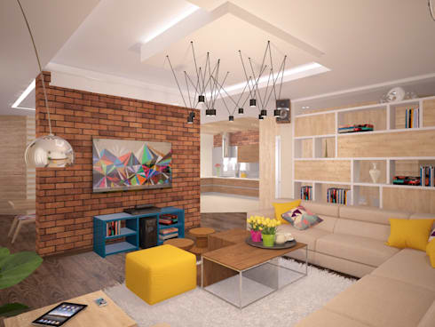 Квартира 160 кв.м.  в ЖК<q>Эдем</q>  Новосибирск: Гостиная в . Автор – Студия дизайна Виктории Силаевой