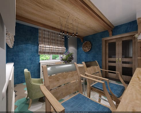 Частный дом в Ставрополе: Столовые комнаты в . Автор – Студия дизайна Натали Хованской