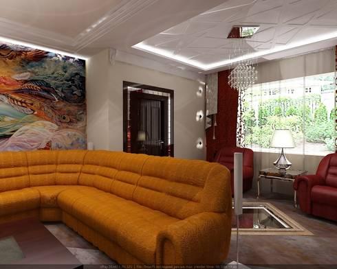 Частный дом: Гостиная в . Автор – Студия дизайна Натали Хованской