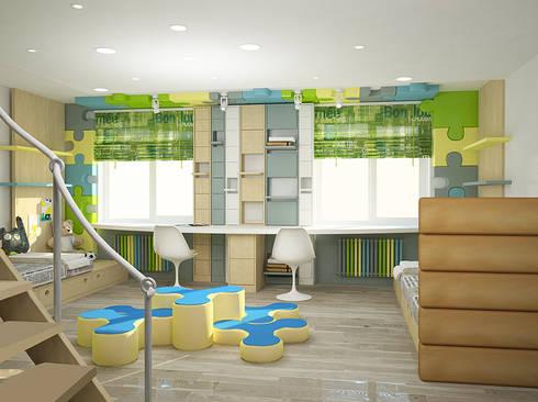 Пентхаус в стиле Лофт: Детские комнаты в . Автор – ELEGANZA