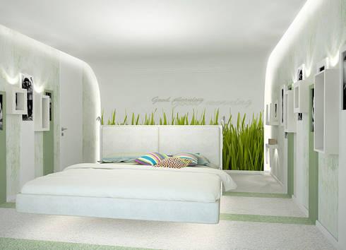 Пентхаус в стиле Лофт 2: Спальни в . Автор – ELEGANZA