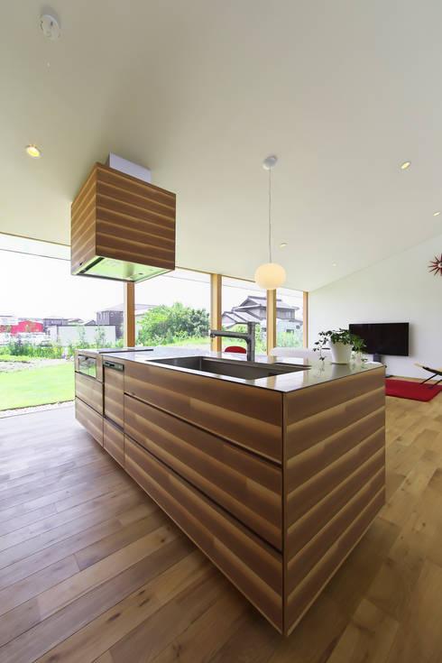 奥田の家: 五藤久佳デザインオフィス有限会社が手掛けたキッチンです。