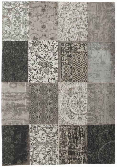 Patchwork - Black and White 8101:  Muren & vloeren door louis de poortere