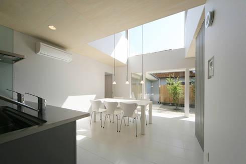 東刈谷の家: 五藤久佳デザインオフィス有限会社が手掛けたダイニングです。