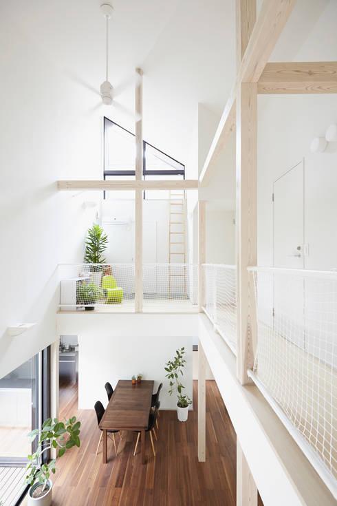 我孫子の家: 白砂孝洋建築設計事務所が手掛けたリビングです。