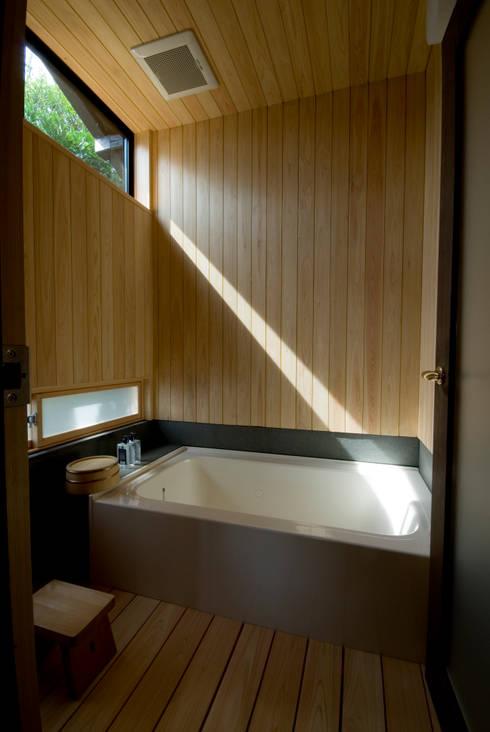 ビフォーアフターで放送された家/重くて遠い家: 森村厚建築設計事務所が手掛けたスパです。