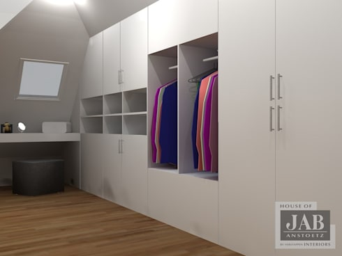 3D visualisatie inloopkast:   door House of JAB by Verstappen Interiors
