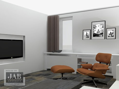 3D visualisatie living beeld 2:   door House of JAB by Verstappen Interiors