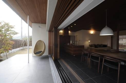 中山町の家: 深山知子一級建築士事務所・アトリエレトノが手掛けたベランダです。