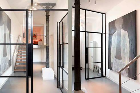 Schelpstraat Den Haag:  Gang en hal door Architectenbureau Filip Mens