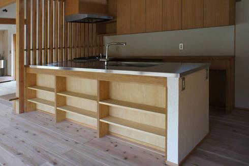 大井の平屋: 環境創作室杉が手掛けたキッチンです。