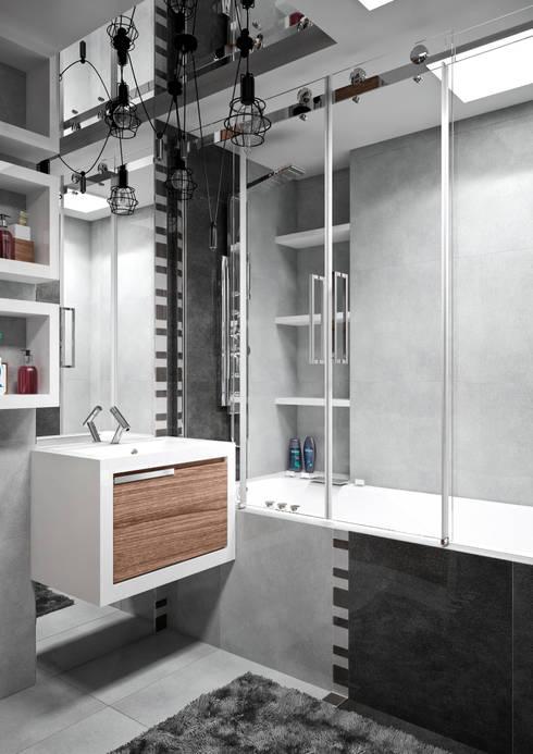 Квартира в современном стиле: Ванные комнаты в . Автор – Студия архитектуры и дизайна ДИАЛ