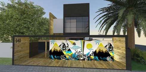 Casa FG: Casas minimalistas por ZAAV Arquitetura