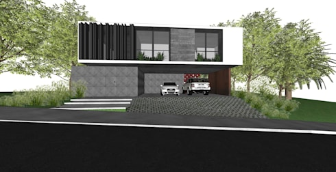 Casa OK: Garagens e edículas modernas por ZAAV Arquitetura