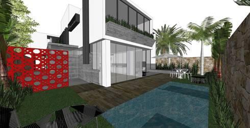 Casa OK: Piscinas modernas por ZAAV Arquitetura
