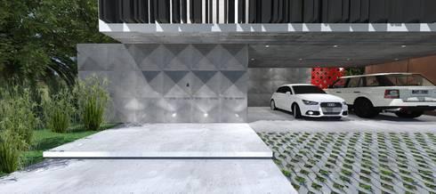 Casa OK: Corredores e halls de entrada  por ZAAV Arquitetura