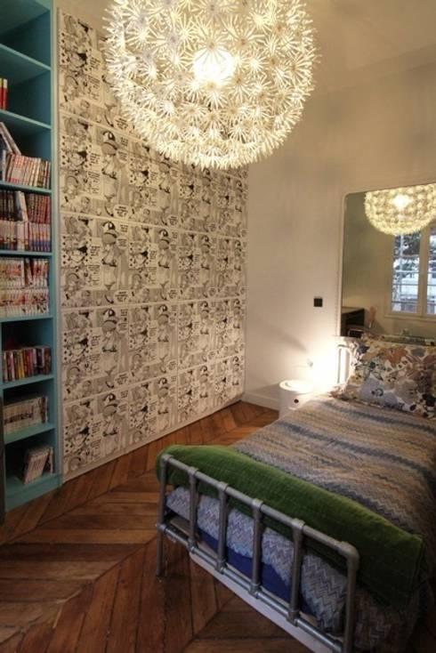 Dossier papier peint : Chambre d'enfant de style  par Camille Hermand Architectures