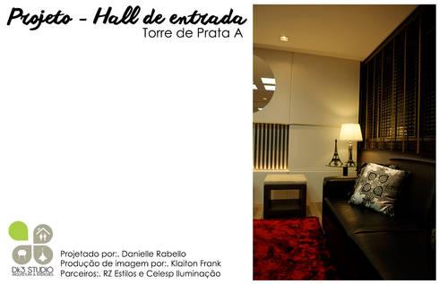 Hall de entrada - Edifício Torre de Prata : Corredores e halls de entrada  por Dani Rabello - Arquitetura e Interiores