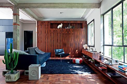 Apartamento Facundo Guerra: Salas de estar modernas por MM18 Arquitetura