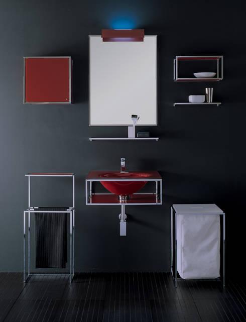 Gill: Bagno in stile in stile Minimalista di Vegni Design