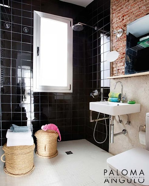 industrial Bathroom by Interiorismo Paloma Angulo