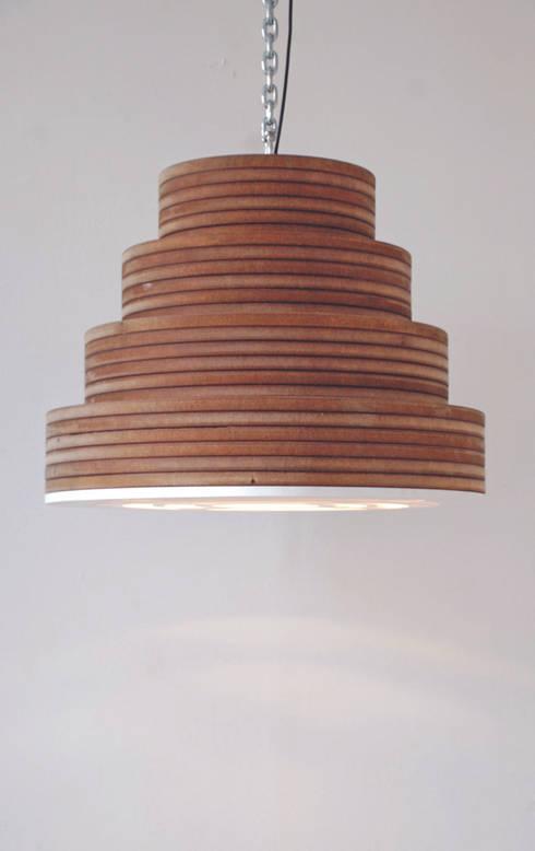Hanging Lamp Frederique/ Hanglamp Frederique: industriële Woonkamer door Blok Meubel