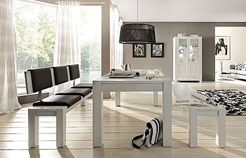 nat rlich sch ne esszimmer kombinationen von allnatura. Black Bedroom Furniture Sets. Home Design Ideas