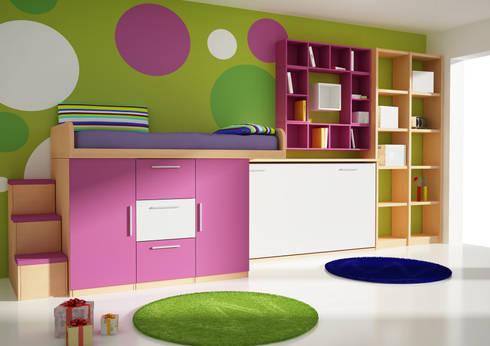 Cama abatible, y armarios: Habitaciones infantiles de estilo  de Muebles y Decoración Marisa Cardona