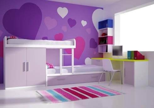Juvenil tren: Habitaciones infantiles de estilo  de Muebles y Decoración Marisa Cardona